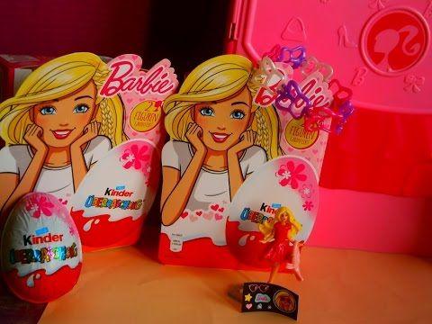 Kinder Lego Fan: Barbie Lidl  4-balenie Kinder vajíčok 2 figúrky B...