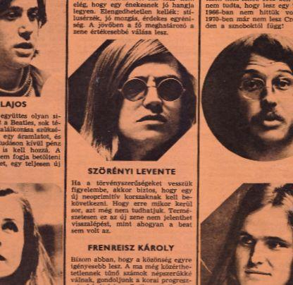 Az milyen kemény, hogy Szörényi Levi már 1971-ben megjósolta a punkot! Öt évvel a punk előtt! :D  Amúgy ilyen Ifjúsági Magazin körkérdés a sztárokhoz 1971 szeptemberében, hogyan alakul majd a beatzene a következő tíz évben, stb. Alap még Presszó Pici,...
