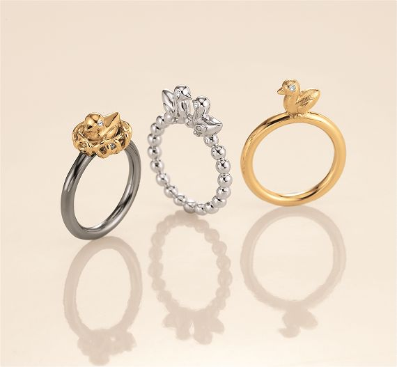 These Blossom Copenhagen silver bird stacking rings are the cutest! A summer jewellery must have: http://bit.ly/TM3EhR