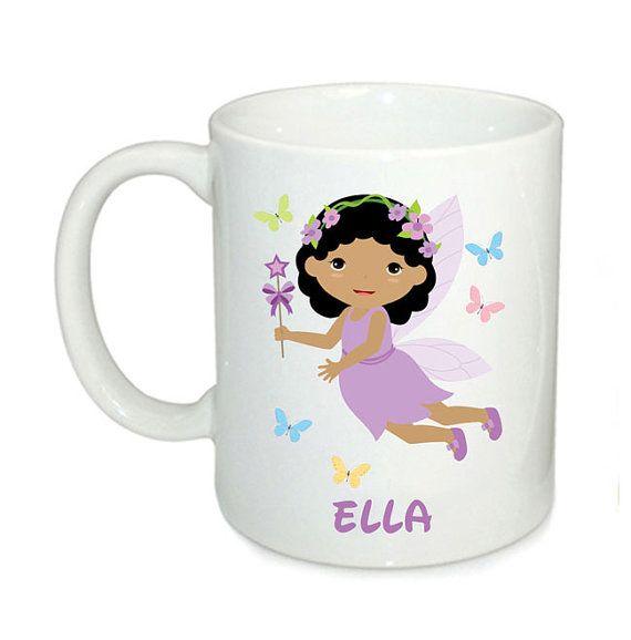 Personalised kids mugs fairy mug 6oz mugs kids cup by cjcprint
