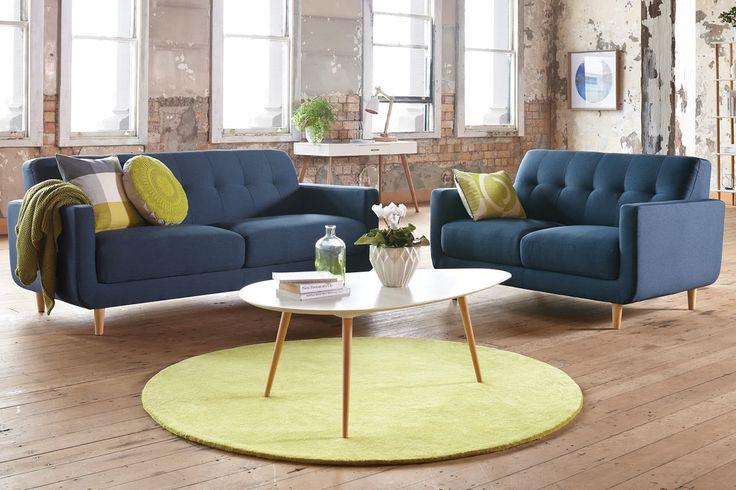 Home :: Furniture :: Lounge :: Lounge Suites :: Hogan 2 Piece Fabric Lounge Suite