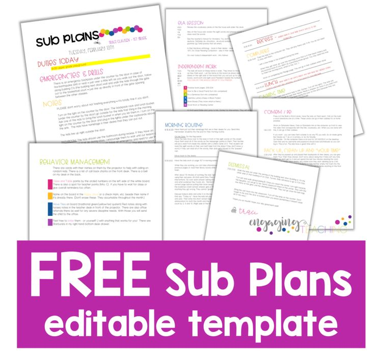 51 best long range plans images on pinterest school teacher free sub plans template this makes sub planning so much faster and easier fandeluxe Choice Image