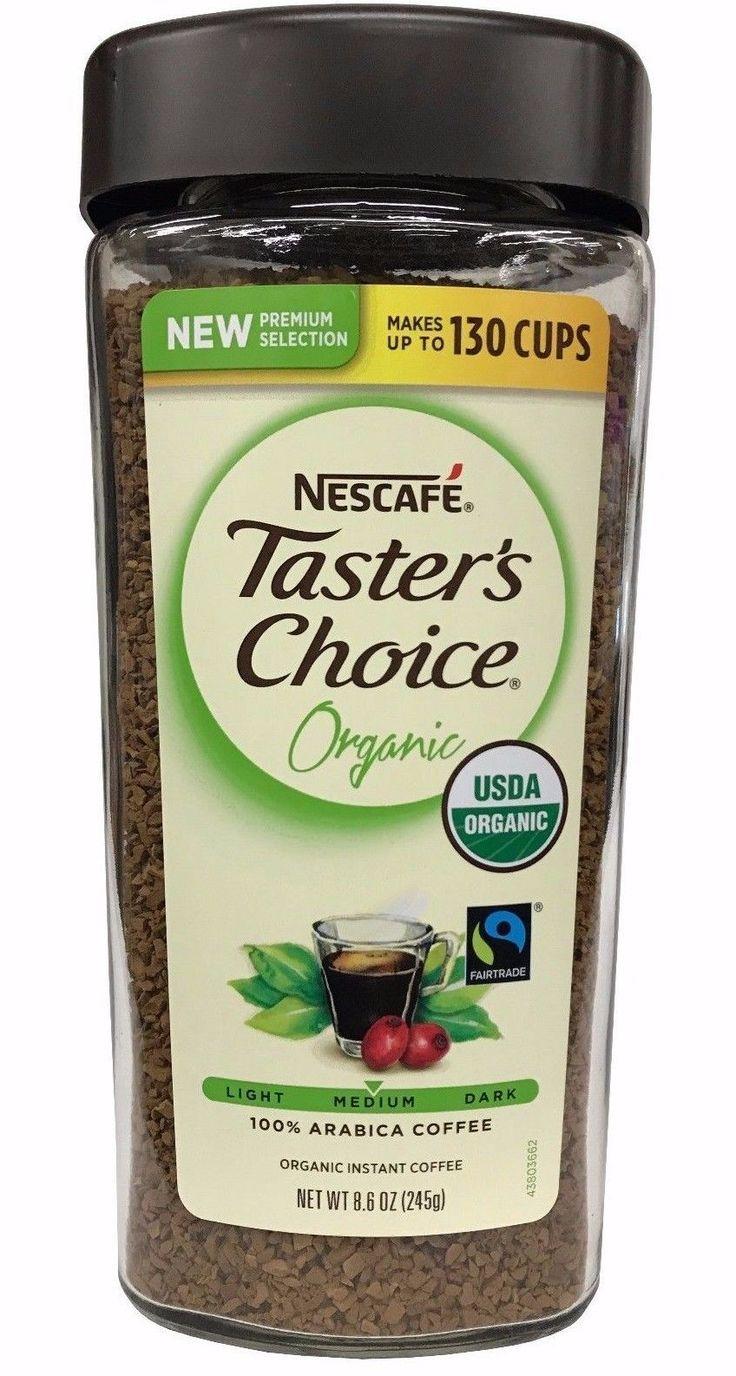 Nescafe Taster's Choice Organic Instant Coffee 100% Arabica Medium 8.6 OZ
