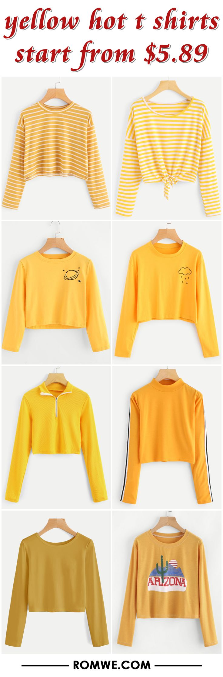 yellow hot t shirts from $5.89