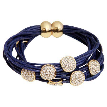 Jasmine Bracelet in Navy