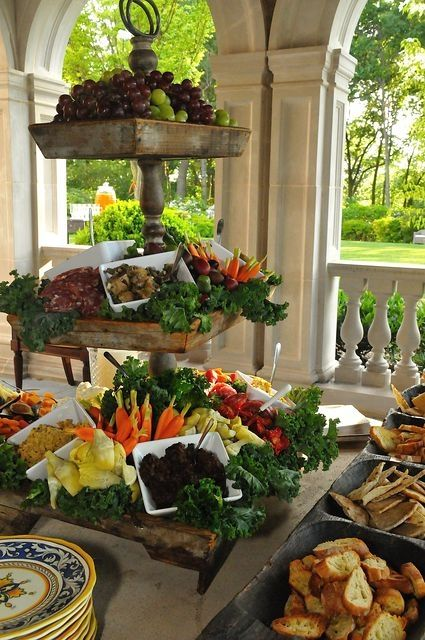 Great veggie display with a farm to table appeal! by XoTess