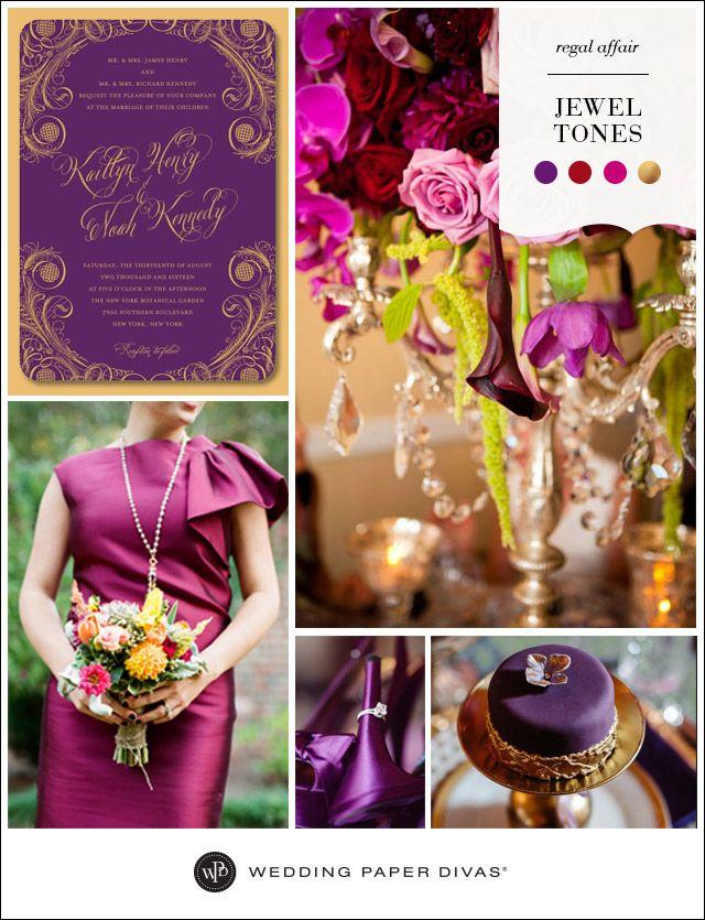 Jewel Tones Wedding Inspiration Board   Wedding Paper Divas Blog