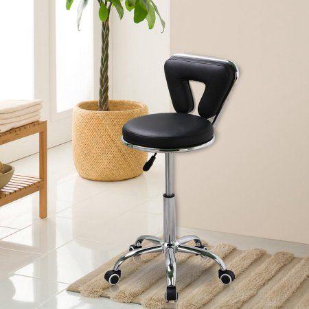Yaheetech Spa Pedicure Chair Stool for Nail, Hair, Facial Technician Black