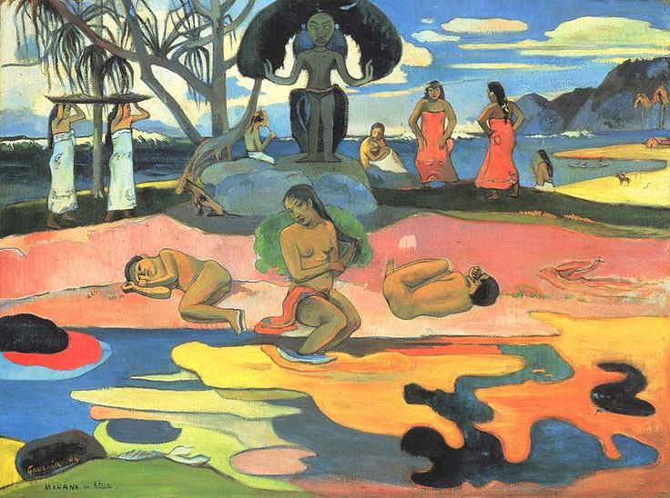 Paul Gauguin, Giorno di dio, 1894. Olio su tela, 68,3×91,5 cm. Art Institute, Chicago