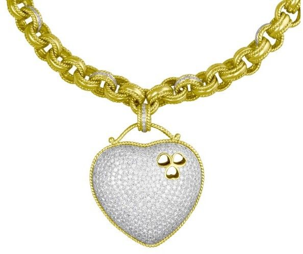 18K Yellow Gold Cassis Diamonds Necklace