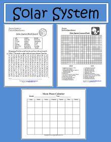 Learning Ideas - Grades K-8: Solar System Fun