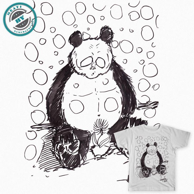 Après le dessin du panda au cœur brisé, j'ai réaliser ce gros Panda que je trouve intéressant !