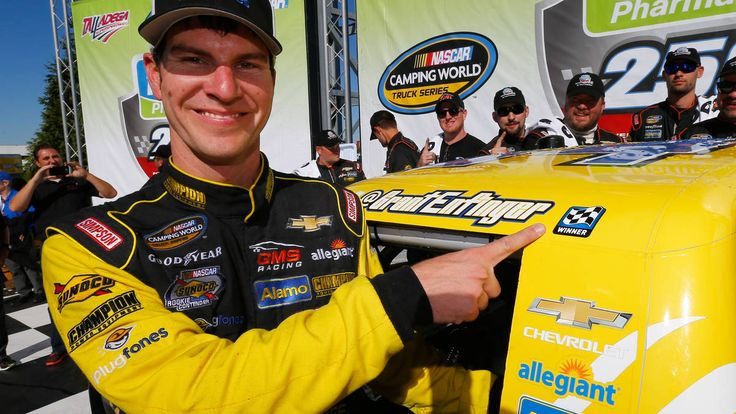 Grant Enfinger and Chevrolet win NASCAR Truck series race at Talladega  Read more: http://autoweek.com/article/nascar-camping-world-truck/grant-enfinger-and-chevrolet-win-nascar-truck-series-race#ixzz4QCRk2C1C