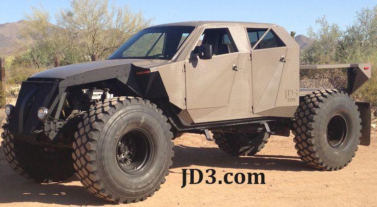 "F-250, V-10 rockcrawler.  Running military beadlocks and 54"" Michelin military tires."