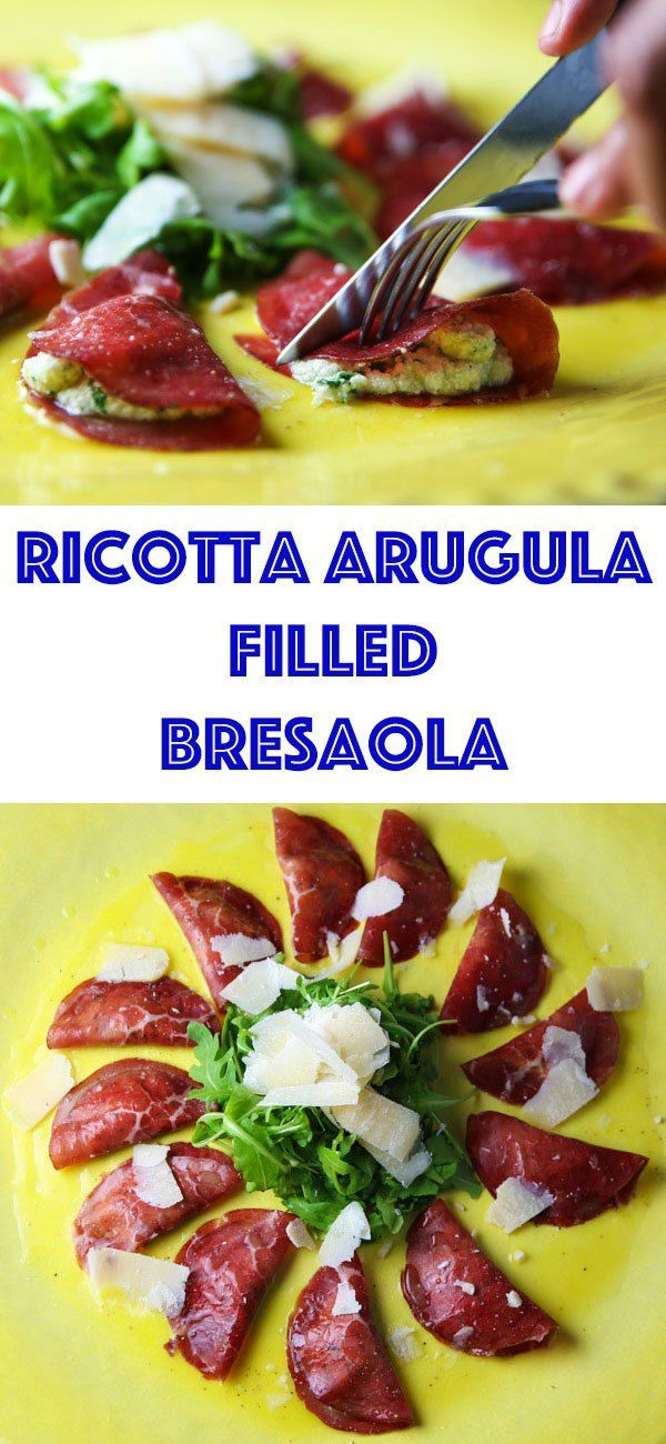 Ricotta Arugula Filled Bresaola - This is such an easy, delicious appetizer to make. Definitely a crowd favorite!