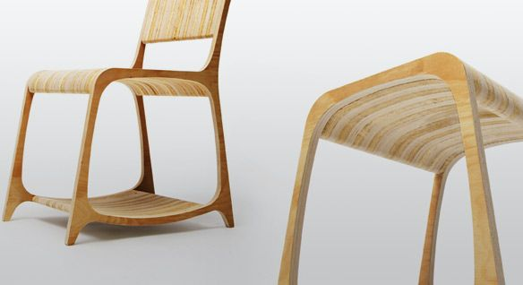 laminated chair and ottoman. cnc router-able.