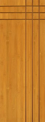 """$670.00Prehung Slab Bamboo Bamboo Contemporary Modern Flush Panel Grooved Panel Interior Single Door 80 96"""" Tall Termite Proof Moisture Resistant eco-friendly Soundproofing"""