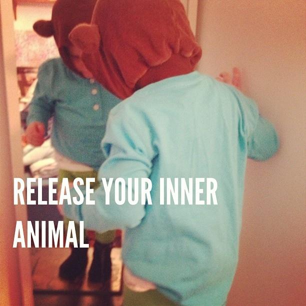 Release your inner animal. #letalittleloose #teddybear #bear #costume #kid #child #mirror #dadailydo #picoftheday by @dadailydo, via Flickr
