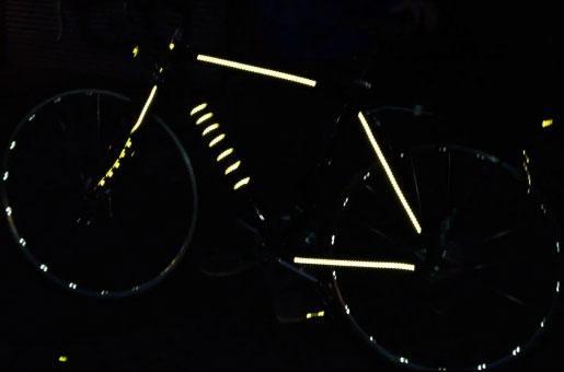 Regala por Navidad pegatinas reflectantes para la bicicleta