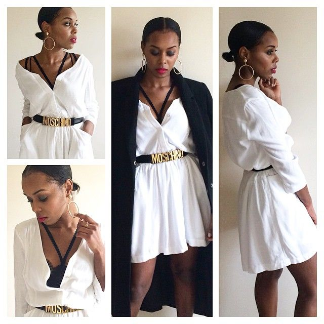 "Throwing back to my ""I Only Speak Moschino"" outfit! #TBT#fashion#outfit#lookbook#ootd#ootn#ootdshare#fashionblogger#fblogger#uk#moschino#zara#monochrome#blackandwhite#gold#fashionista#fashiongram#instastyle#instadaily#halfpastfashion#bgki #monochromedaily#africanfashionbloggers#prettyhaute #fashionbombdaily #flyfashiondolldaily"