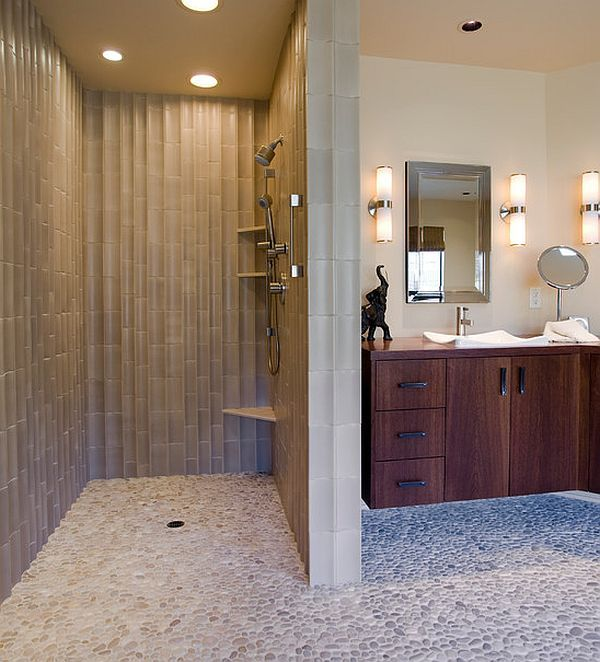 modern shower stall pictures | Doorless Showers: How to Pull Off the Look