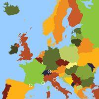Aardrijkskunde website. Allerlei digibord mogelijkheden om de landen, rivieren, bergketens, hoofdsteden, zeeën, etc. van Europa te oefenen. Verder ook de mogelijkheid om naar de Eurolanden of landen met een koningshuis te kijken.