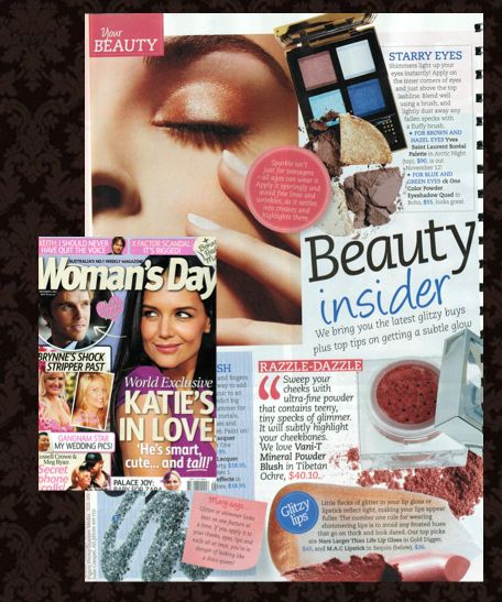 Looking for a little weekend reading? Check out Woman's Day's Beauty Insider for all your beauty tricks - featuring Vani-T's ultra luxe Mineral Powder Blush in Tibetan Ochre (one of Dannii Minogue's favourites!) Have a great weekend everyone!