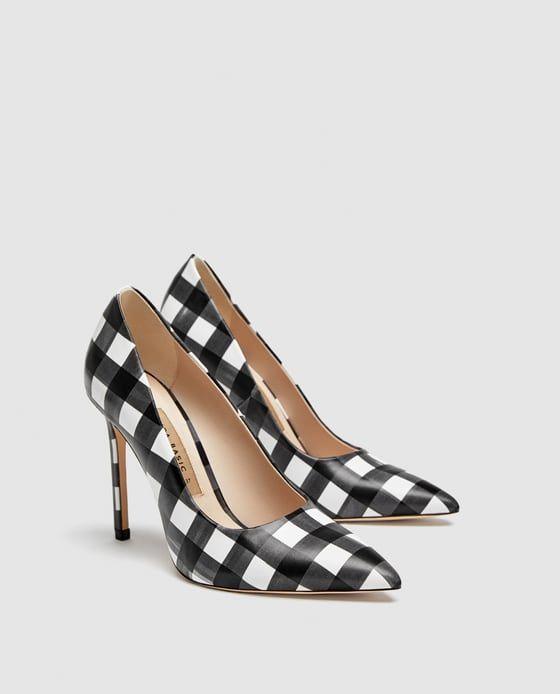 Salón ZapatosTacones CuadrosIn Y Estampado Her Zara Shoes Tacón NOmw8nv0