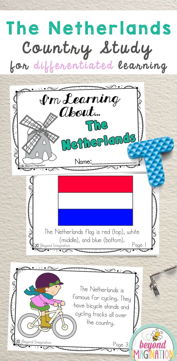 Netherlands Booklet Country Study Project Unit Kindergarten