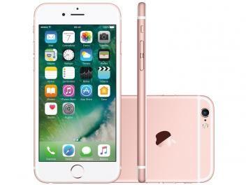 """iPhone 6s Apple 16GB Rose 4G Tela 4.7"""" Retina - Câm. 12MP + Selfie 5MP iOS 10 Proc. Chip A9"""