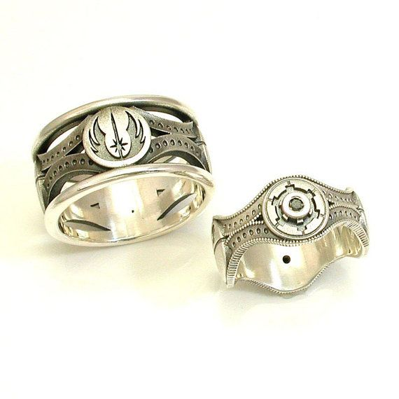 SwankMetalsmithing's Star Wars wedding bands, both the geek and designer in me loves these, absolutely gorgeous work.