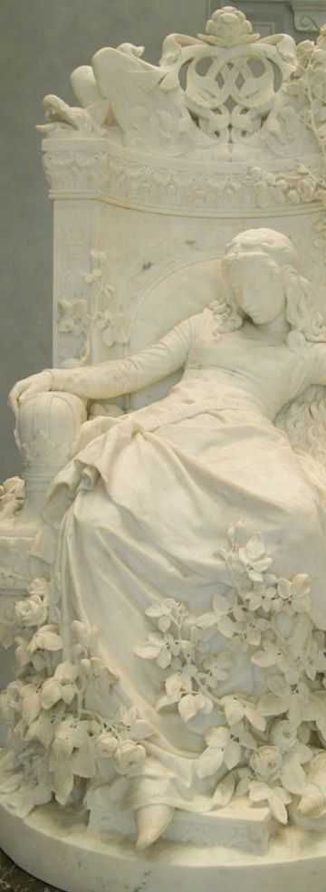 Sleeping Beauty, created in 1878 by Louis Sussmann-Hellborn (1828-1908). Old National Gallery, Berlin #art Photography and Travel #PhotographySerendipity #TravelSerendipity #travel #photography Travel and Photography from around the world.