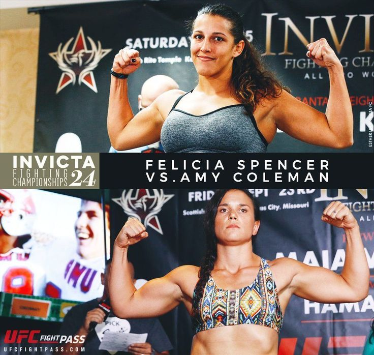 """Check out this matchup for #InvictaFC24 on Saturday. Felicia Spencer @feenom479 is facing Amy """"Donkey Kong"""" Coleman @AmyColemanMMA in a #featherweight #fight that most people think is going to go Spencer's way. Has Coleman got what it takes to take the W?  Don't miss this and all the fights on the card at Invicta FC 24 Saturday 7/15 at 8pm ET on UFC Fight Pass.  For the latest #MMA news make sure to follow me: http://ift.tt/2v5ewur http://ift.tt/2u6BTqc http://ift.tt/2v5ztp8 #Invicta…"""