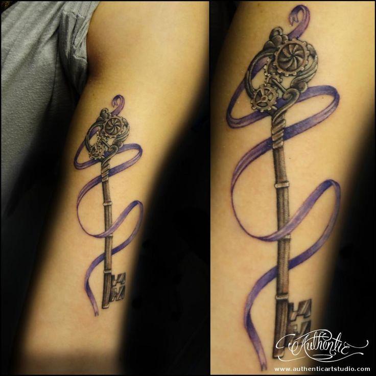 30+ Unique Purple Ribbon Tattoos