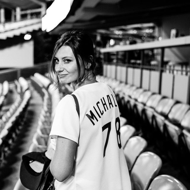 "Aly Michalka via @alymichalkaofficial Instagram ""I see you snappin' my picture @auhasardspr #Dodgers #aboutlastnight"""