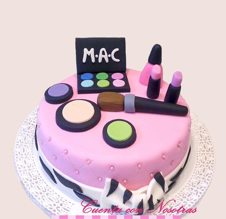Torta maquillaje, Make Up Cake, Torta adolescentes, Torta mujeres, Cuenta con Nosotras
