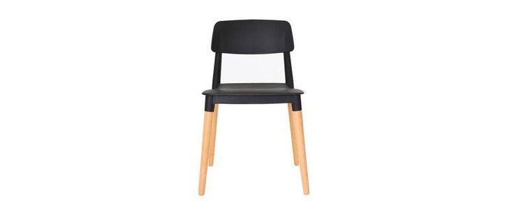Coppia di sedie design scandinave nere GILDA