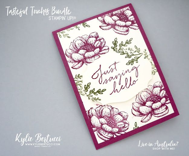All Star Video Tutorial Bundle Design Team Hop In Good Taste Suite Just Saying Hello Kylie Bertucci Simple Cards Card Craft Videos Tutorial