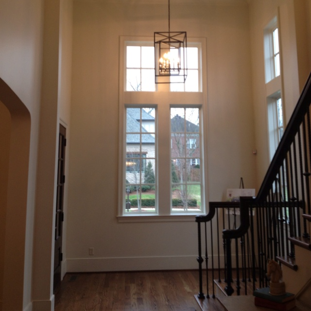 Two story foyer new house inspiration pinterest two for 2 story foyer chandelier