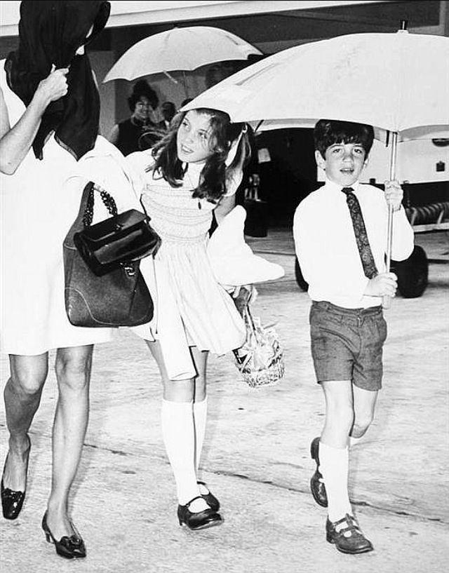 "rfkjfk: ""Jackie with Caroline and John in Palm Beach on Easter, 1968. """