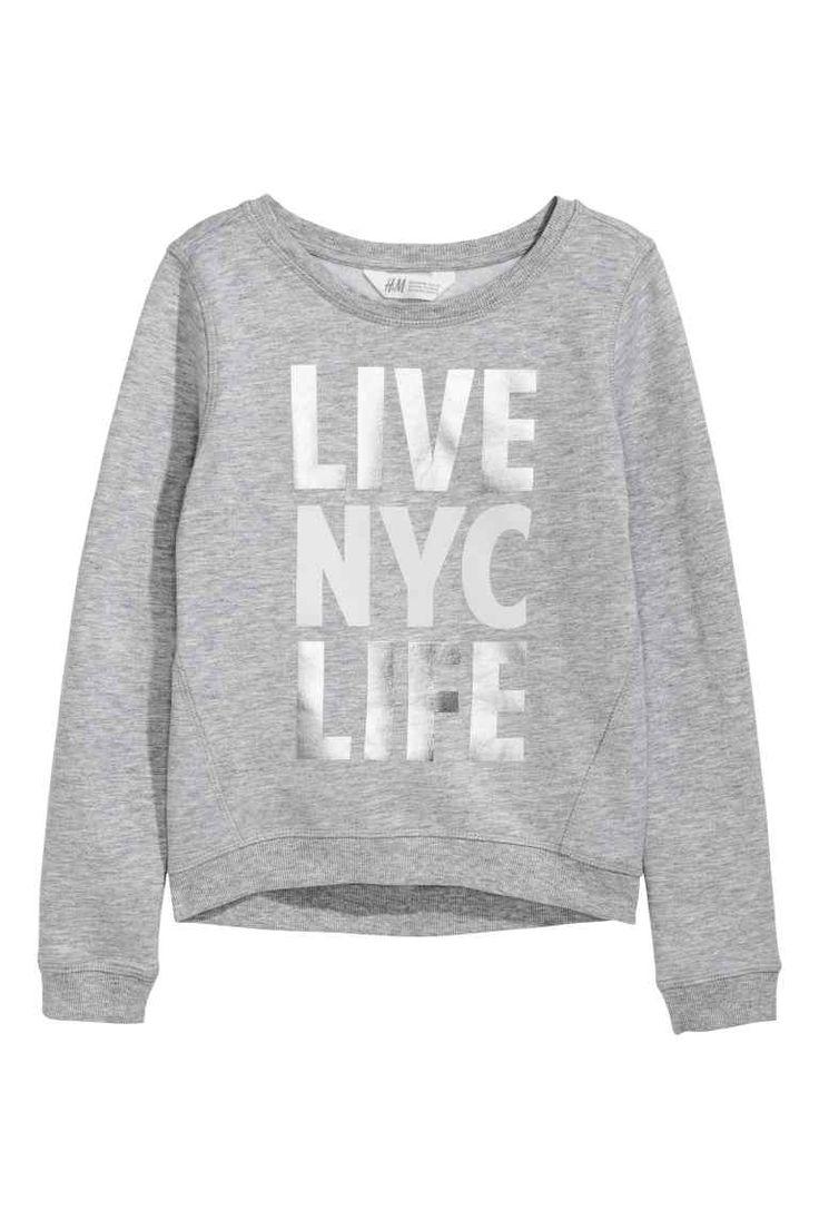 Printed sweatshirt   H&M