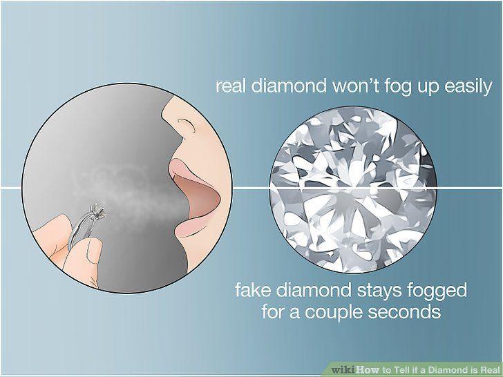 How To Tell If A Diamond Is Real Fake Diamond Diamond Man Made Diamonds