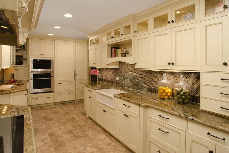 Image result for floor tile under cabinets | Modern ...
