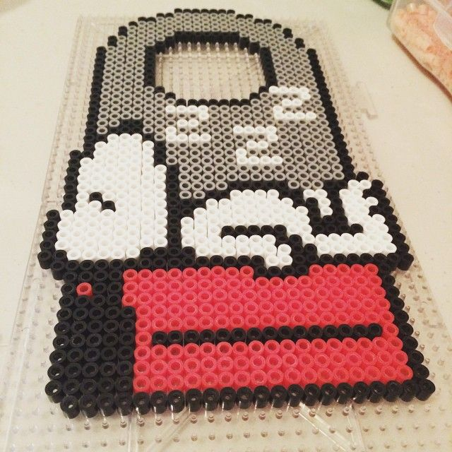 Snoopy door hanger perler beads by SuperJade Designs