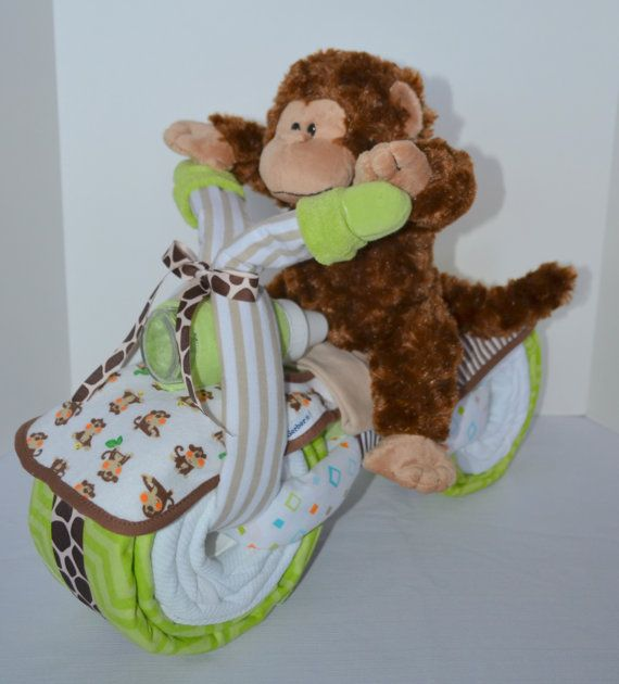 Motorcycle Diaper Cake Baby Shower Gift 2 by arizonababycakes                                                                                                                                                      Plus