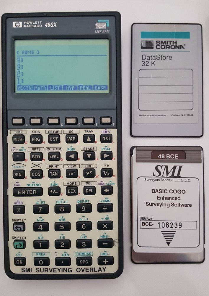 smi 48 bce cogo surveying software card 32k card hp 48gx rh pinterest com hp 48g calculator manual hp 48g user manual