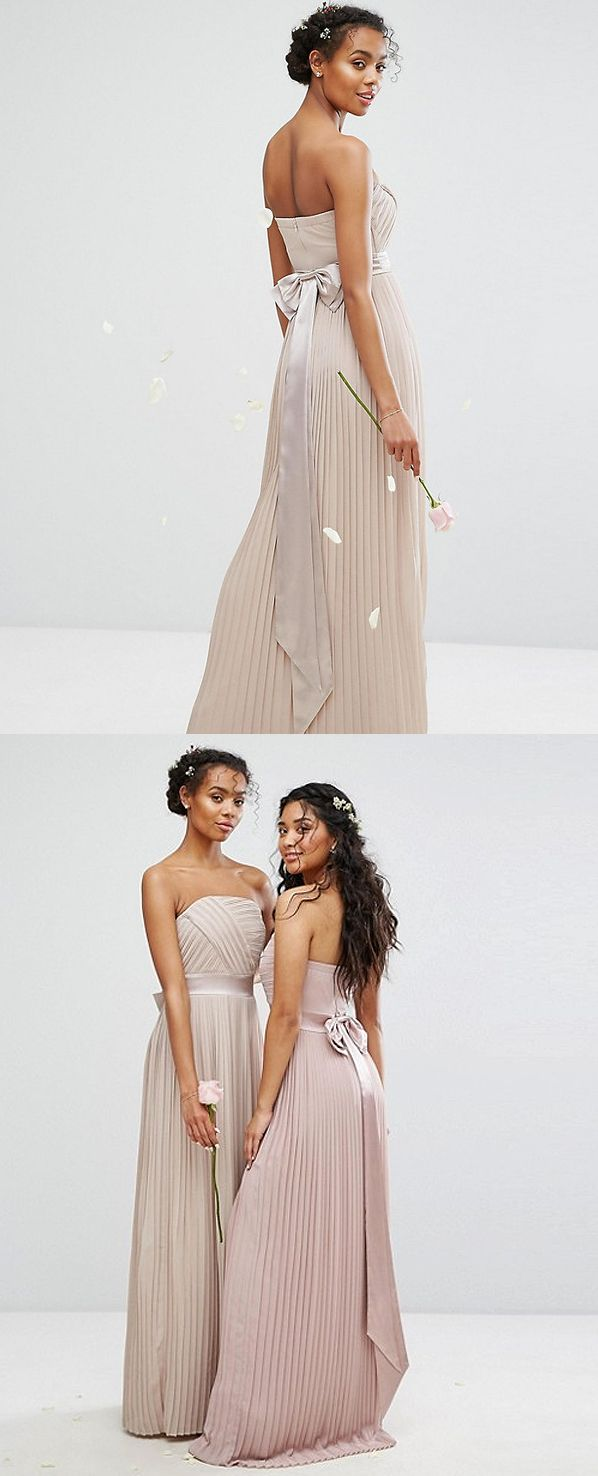 TFNC Wedding Pleated Maxi Dress £60.00. Wedding on a Budget ASOS Bridal Wedding Dress with Long Pleats all over. Mink With fitted waist. Low Cost Budget Wedding Bride or Bridesmaids Inspirations. Weddings on a Budget. High Street Wedding Dresses. #springwedding #bridal #lowcostwedding #bride #budgetwedding #maxidress #fashion #affiliatelink #weddings #bride #pleateddress #bridesmaids #pleats #maxidress #fashion