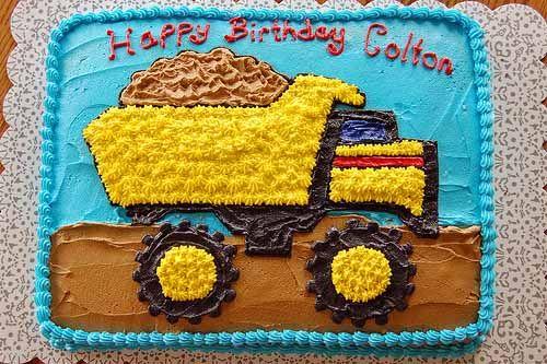 tonka dump truck birthday cake photo