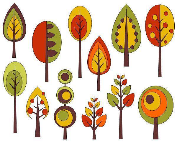 Clip Art Fall Trees Clip Art 1000 ideas about fall clip art on pinterest owl retro trees autumn digital by yarkodesign