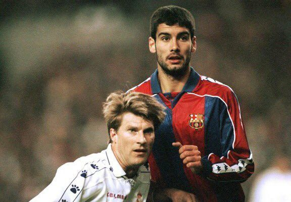 Michael Laudrup and Pep Guardiola